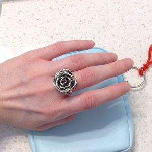 3D metal rose ring